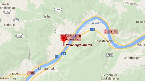 Wachau Karte.Gästehaus Ebner Wachau